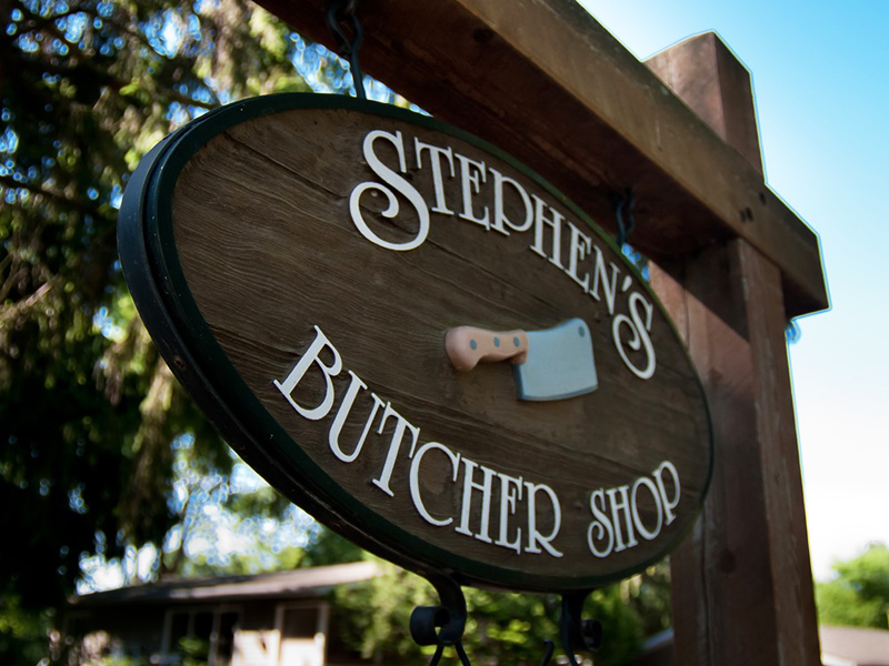 Stephen's Butcher Shop Sign
